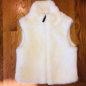 Spyder Faux Fur Vest and Carter's Jeggings